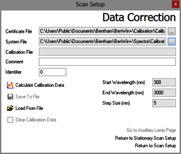 BenWin+ data correction function