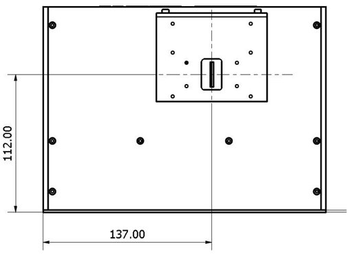 TMc150 single monochromator side dimensions