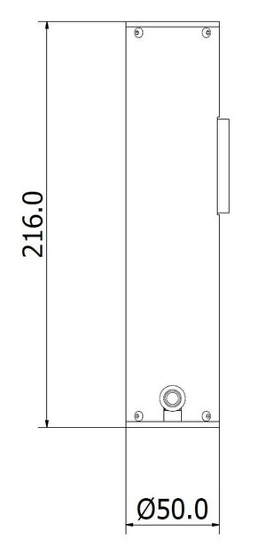 CL-Hg mercury-lamp calibration reference standard side dimensions