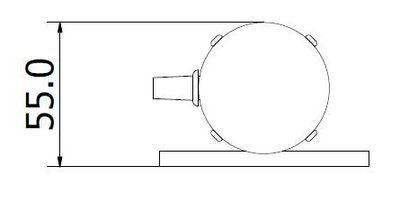 CL-Hg mercury-lamp calibration reference standard top dimensions