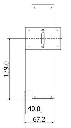 CL-Hg mercury-lamp calibration reference standard front dimensions