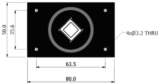 Si_CAL Calibration Standard Dimensions - Top View