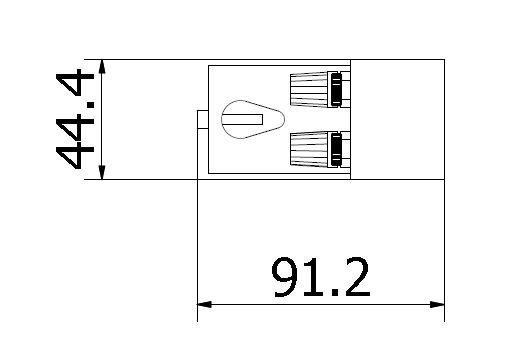 CL2-RI halogen radiant intensity reference top dimensions